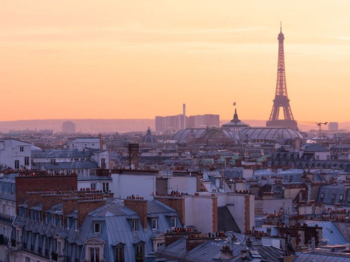 Paris skyline from the Printemps terrace