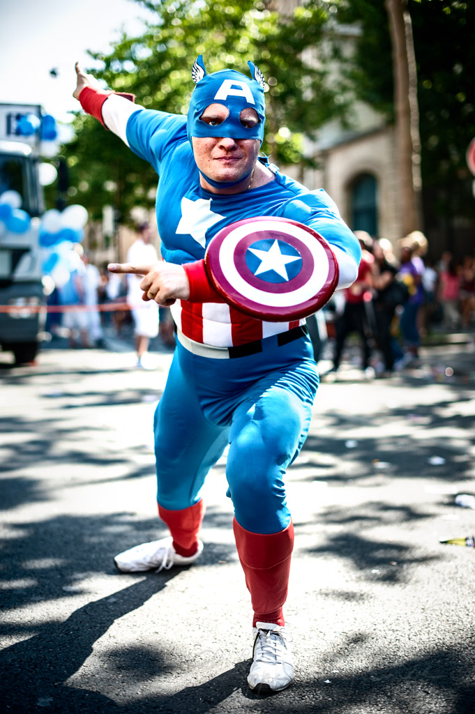 Captain America at the Paris pride, France