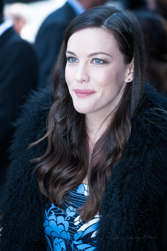 Liv Tyler at the Miumiu show during the spring-summer 2015 fashion week in Paris.