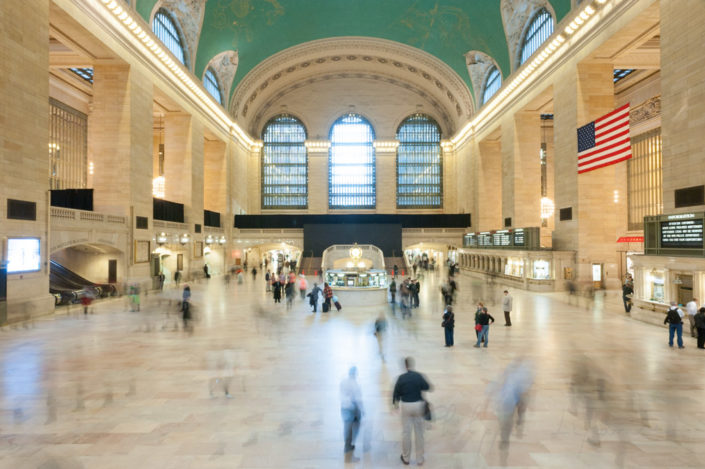 Central station in New York City, USA