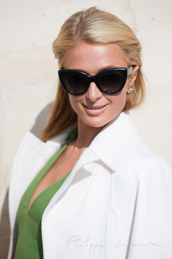 Paris Hilton at the Paris fashion week, September 2014.