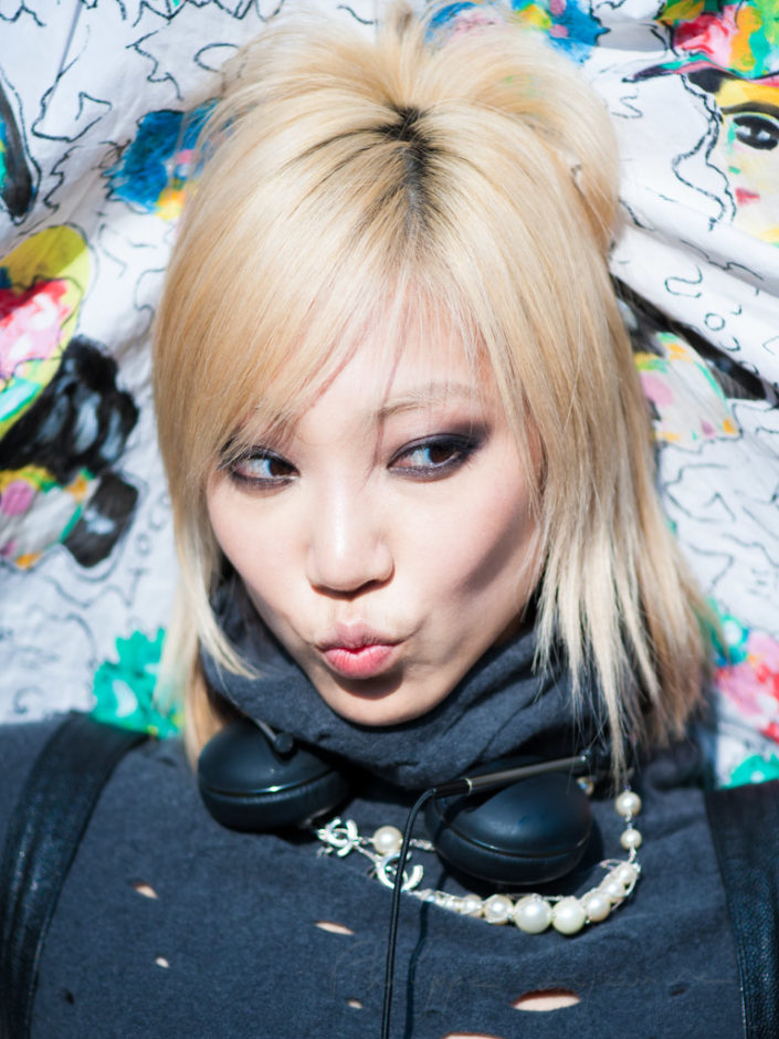 SooJoo Park at the spring-summer 2015 fashion week in Paris. September 30, 2014 in Paris.