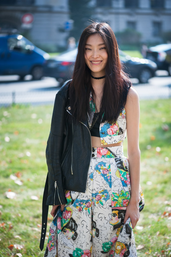 Sunghee Kim at the spring-summer 2015 fashion week in Paris. September 30, 2014 in Paris.