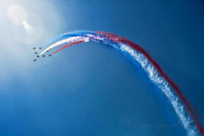 French Air Patrol at Paris - Le bourget airshow, France
