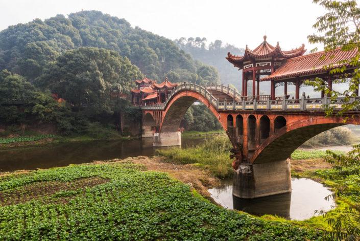 Leshan - Chengdu - ZhuoYing ancient bridge, Sichuan Province, China