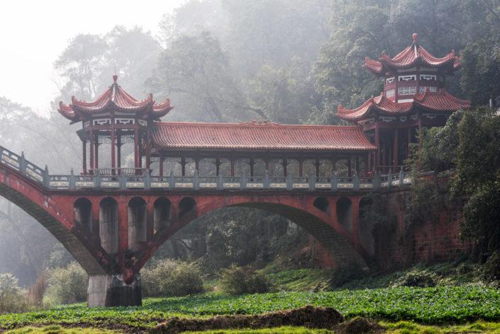 ZhuoYing ancient bridge, Leshan, Chengdu, Sichuan Province, China