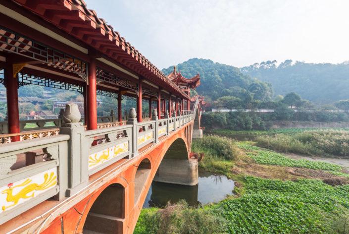 Leshan - Chengdu - Zhuoying ancient traditional bridge, China