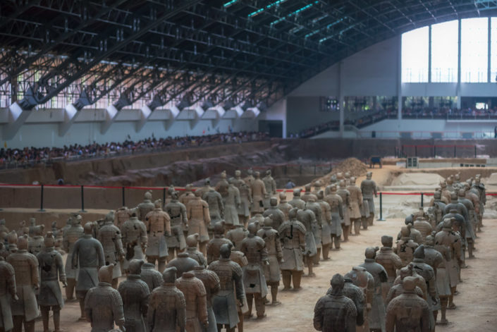 Terracotta Army warriors in Xi'an, Shaanxi Province, China