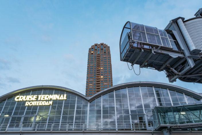 Rotterdam Cruise Terminal in Wilhelminapier district, Rotterdam, Netherlands