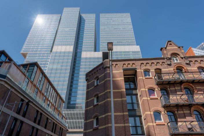Rotterdam, Netherlands : Ancient and modern buildings - De Rotterdam - in Wilhelminapier district.