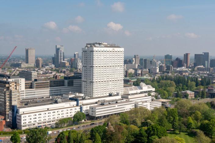 Erasmus University Medical Center (Erasmus MC) aerial view, Rotterdam, Netherlands