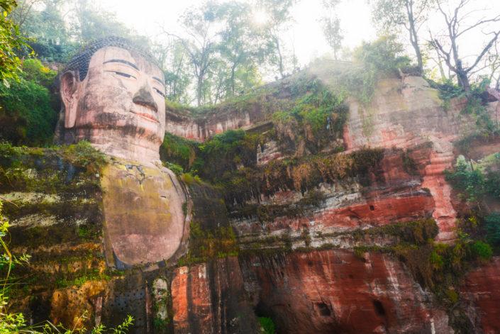 Giant buddha sculpture in Leshan, Chengdu, Sichuan Province, China