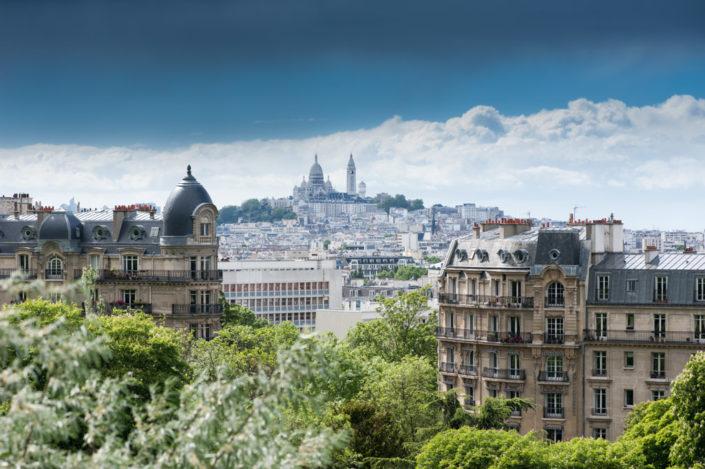 Paris - Sacré-Coeur view from the Buttes-Chaumont