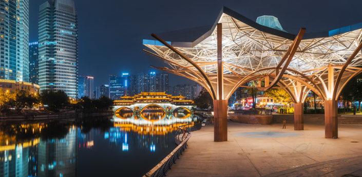 Blog – Anshun bridge at night in Chengdu
